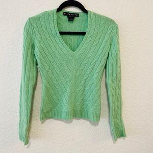 Ralph Lauren Mint Green Cashmere Sweater
